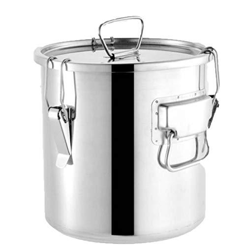 JTDSQDC Sealed Fass Edelstahl Weinfass Extras Dicke Suppe Fass mit Deckel Wasser Reis Öllagerfass Kann for Milcheimer, Reis Eimer, Butter Eimer, Eimer Wein, Lagerung Eimer verwendet Werden,