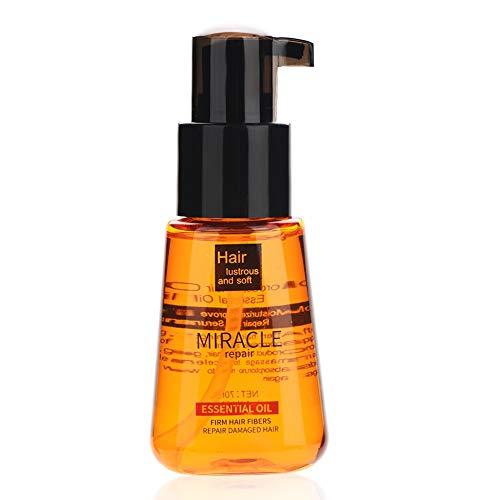 Salon Essential Hair Hair, Wash Free Nut Hair Oil for Smooth Hair Argan Oil Clean Curly Hair Moisturizing Liquid Scalp Health Hair Care Mask (70ml)