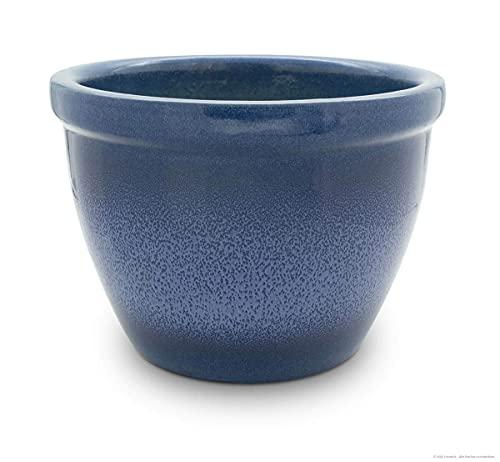 Venus II Pot de fleurs avec boule Poignée 36 x 26 cm Bleu flamme Antique/Céramique