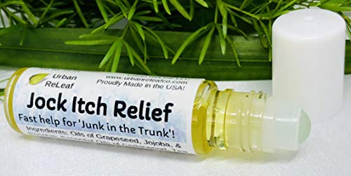 Urban ReLeaf Jock Itch Relief ! Fast Help for 'Junk in The Trunk', Stop Itching, Fade Redness, Powerful Essential Oils, 100% Natural Remedy, It Works!