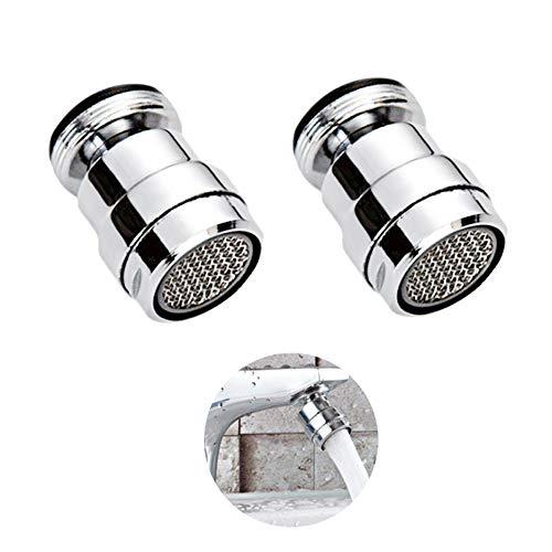 Filtro/Rosca macho Ahorrador de agua de acero inoxidable de 24 mm/Atomizador de agua de giro giratorio 360 / Extensión de grifo de cocina/Aireador de grifo