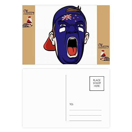 Nieuw-Zeeland Gezichtsmake-up schreeuwen Cap Kerstman Gift Ansichtkaart Thanks Card Mailing 20 stks