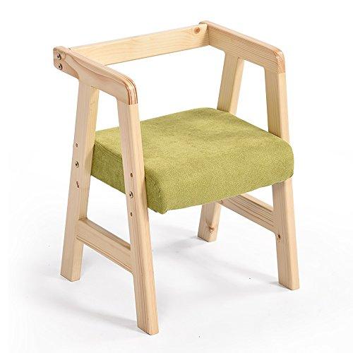 LJHA Tabouret pliable Tabouret créatif en bois solide/chaise d'étude d'enfant/chaises de salle à manger/tabouret réglable de bureau (2 couleurs facultatives) chaise patchwork (Couleur : Vert)