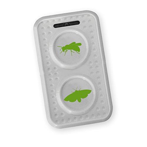 ISOTRONIC Wespenschutz Wespenabwehr Wespen Motten vertreiben mit Ultraschall und Wechselfrequenz bekämpfen, Mottenschutz | 1er Pack
