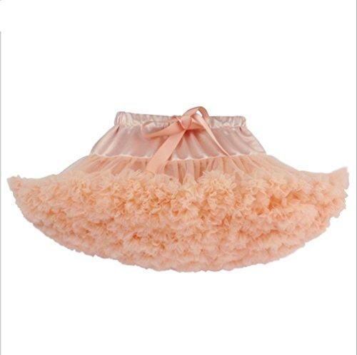 jysport für Partykleid/Tanzkleid flauschig Prinzessin Röcke Party Baby Girl 's Farbe Ballett Dance kurzes Kleid, Pfirsich Rot
