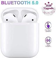 【BLUETOOTH5.0 e 3D STEREO】 Con la più recente tecnologia Bluetooth 5.0, offre velocità elevate, connettività stabile (Gamma operativa fino a 15 metri / 49 piedi),I nostri auricolari wireless offrono una connessione più stabile e senza interruzioni, M...