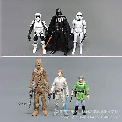 JPYH 5 PCS Adornos de Star Wars Decoración de Pasteles,Star Wars Figura De Acción Bobble La Muñeca del Coche Interior Accesorios Adornos para Regalo de niños