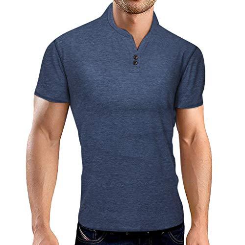 serliy Herren Poloshirt Kurzarm Einfarbig Basic Polohemd Sommer T-Shirt Men's Polo Shirt Polohemd Golf T-Shirt