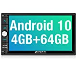 PUMPKIN Android 10 Double Din Car Stereo with 4GB RAM+64GB, GPS and WiFi, Android Auto, Support Fastboot, Backup Camera, USB SD, 7 Inch Touch Screen