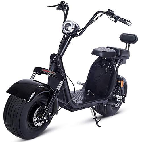 Takmeway 55-60km Doppel Person Elektroroller Fahrzeugstoßdämpfung Diebstahl Erwachsene Elektro-Fahrrad EBike 1500W / 2000W