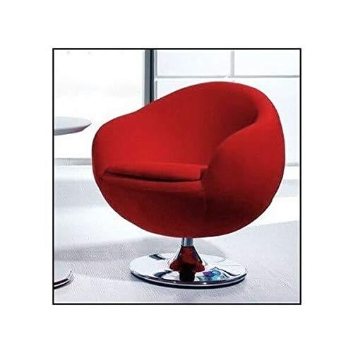 Ball - Sillón de diseño de tela, color rojo