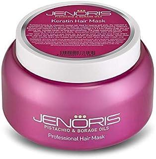 Sponsored Ad - Jenoris Pistachio and Borage Oil Professional Keratin Hair Mask - Sodium Chloride Free
