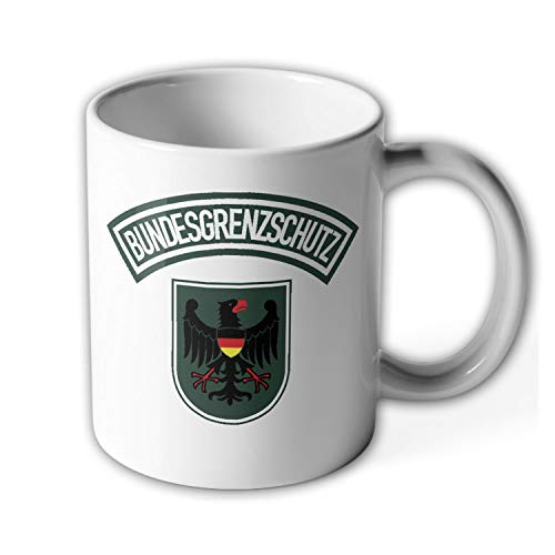 Taza con escudo de policía de BGS con escudo de águila, arco genérico, uniforme, protector de fronteras, funcionario #23680