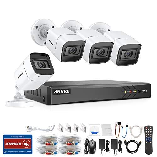 ANNKE 8.0MP Überwachungskamera System 4x 4K(8MP) Außen Kamera Set und 8CH 5 in 1 TVI CCTV DVR ohne Festplatte Haus HD Überwachungssystem Indoor/Outdoor Wasserdicht 30M IR Nachtsicht