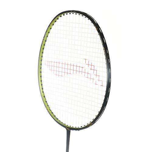 LI-NING Badminton Racket G-Tek GX Series Player Edition Light Weight Carbon Graphite Shaft 80+ GMS with Full Carrying Bag Cover(68 GX Black/Green)