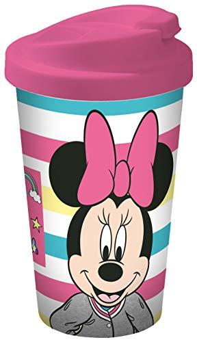 Disney Mickey Mouse 12079 Minnie Mouse Coffee to go beker, reisbeker, herbruikbare beker, PP, 400 milliliter, meerkleurig