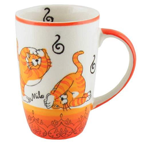 440s Mila Keramik-Design-Becher Oommh Yoga Katze | MI-95212 | 4045303952126