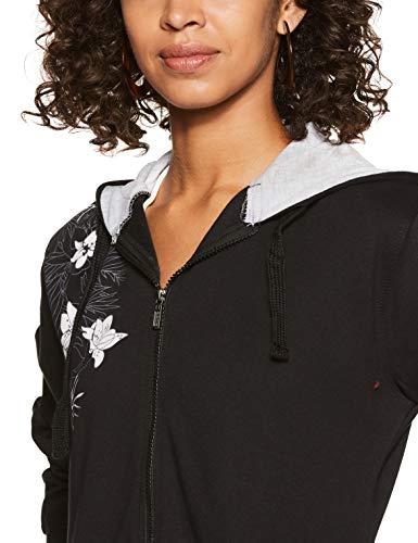 WOKNIT Women's Fleece Hooded Sweatshirt (WWW-SW03-BCK-M_Black_Medium)