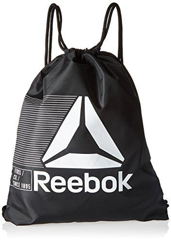 Reebok Act Fon Gymsack Sporttasche, Schwarz (Negro), 25 Centimeters