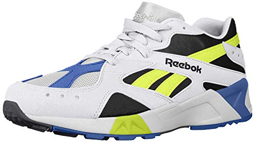 Reebok Unisex Adult's AZTREK SHOES White/Black/Crushed Cobalt/Solar Yellow 7 M US