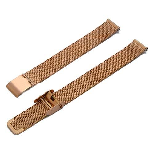 CASSIS[カシス] ステンレススチール 時計ベルト ANGERS アンジェ 12 mm ローズゴールド 交換用工具付き U1027304014012
