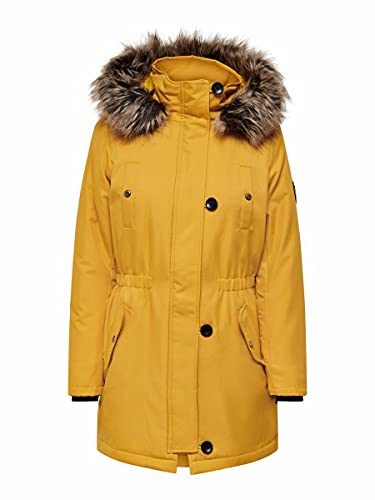 Only Onliris Fur Winter Parka CC Otw Chaqueta, Tawny Olive, L para Mujer