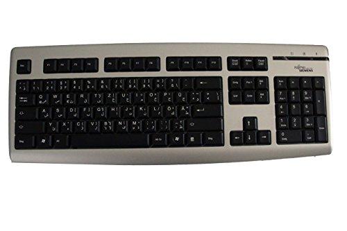 Tastatur Silber/Schwarz Fujitsu Siemens K365 Arabisch/Deutsch Slim Line