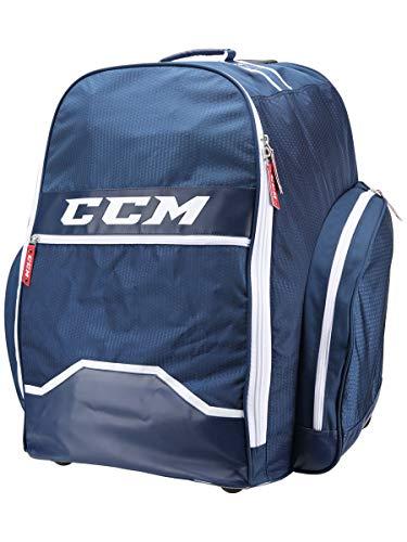 "CCM Hockey 390 Wheeled Backpack Bag, Navy 18"" L x 26"" H x 17"" W"