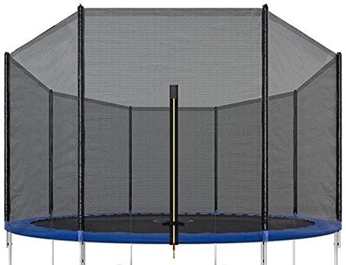 VIKING SPORTS Red de seguridad para cama elástica de 305 cm de diámetro, 8 barras, 10 m de exterior