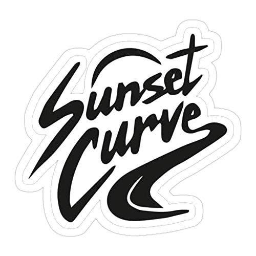 DKISEE (3 PCs/Pack Sunset Curve Die-Cut Stickers Decals for Laptop Window Car Bumper Helmet Water Bottle 4 inches
