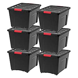IRIS USA TB-36 Storage Bin, 40 Qt, Black