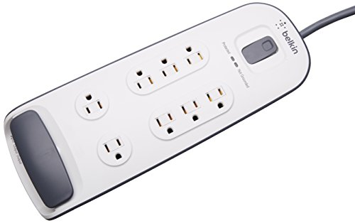 Belkin 8-Outlet Surge Protector with Telephone Protection, 10ft Cord, White