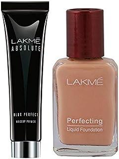 Lakme Absolute Blur Perfect Makeup Primer, 30g & Lakme Perfecting Liquid Foundation, Pearl, 27ml