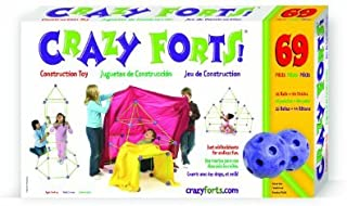 Original Crazy Forts 69 Piece Set - Includes Bonus Pop Toob! by Everest
