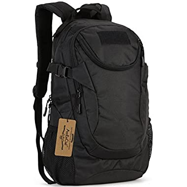 ArcEnCiel Water-Resistant Military Backpack Rucksack Gear Tactical Assault Pack Student School Bag for Hunting Camping Trekking Travelling -Rain Cover Included (Black)
