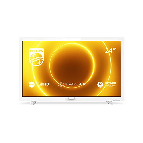 Philips 24PFS5535/12 Televisor de 24 pulgadas (60 cm) TV LED (Full HD, Pixel Plus HD, entrada de 12 V, HMDI, VGA, USB), color blanco (modelo 2020/2021)