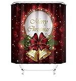 DASHUAIGE Weihnachten Duschvorhang , Wasserfeste Bad Vorhang aus Polyestergewebe mit 12 Haken Set Leicht zu pflegen Farbfest Wasser Bakterie Resistent, Weihnachtsthema für Weihnachtsdekoration 180 x 180 cm