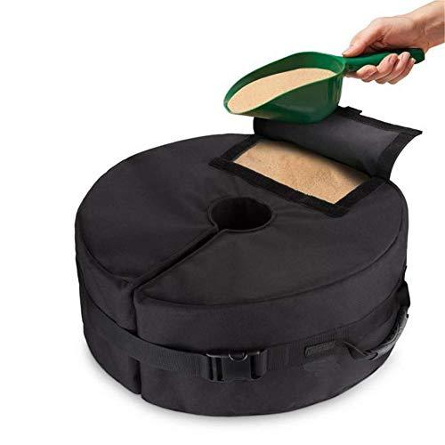 LLVV 18 inch ronde paraplu base Weight Bag, winddicht Heavy Duty Fill zand Round Bag past op elk terras en cantilever Umbrella