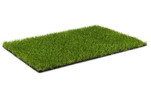 Kunstrasen Rasenteppich Cook für Garten - Florhöhe 20 mm - Gewicht ca. 1993 g/m² - UV-Garantie 8 Jahre (DIN 53387) | Rollrasen | Kunststoffrasen 2 m x 3 m