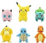 6 Pièces Pikachu Poupées Pokémon Poche Mignon Psyduck Squirtle Figures Jouets Anime Modèle Jouet Figurines pour Décoration de Voiture Bureau Gâteau 6-8CM