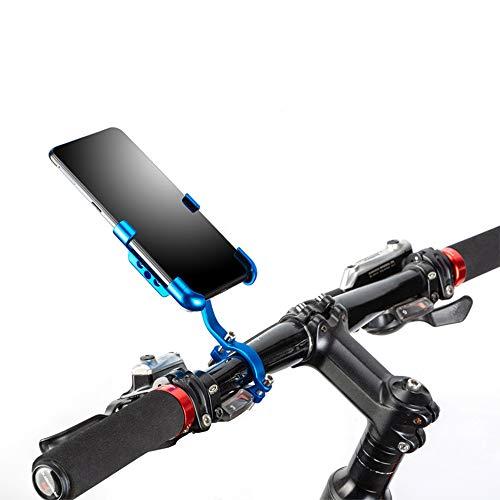 Soporte Móvil Bicicleta,Ancho Ajustable Porta Movil Bicicleta,Soporte para Movil Bicicleta,Rotación Universal de 360 Grados,Soporte Movil Bici para iPhone, Huawei, Samsung (Azul)