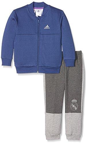 adidas Kinder Baby Mini Me Real Madrid Trainingsanzug, Top:Raw Purple/Night Met, Bottom:Dark Grey Heather/Medium Grey Heather/Ray Purple, 92