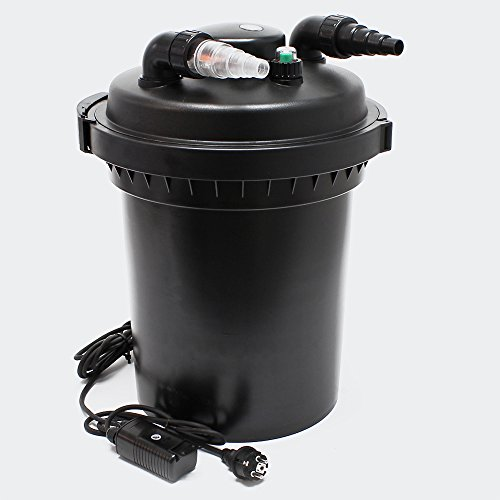 SunSun CPF-500 Filtro presión lámpara UVC 18W estanques hasta 30000L Jardín Koi Peces Jardinería