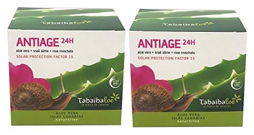Aging creme gesicht regeneriende 24h 100 ml Tabaibaloe x 2 Einheiten