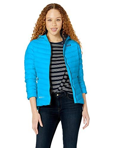 Helly Hansen W Verglas Hooded Down Insulato Chaqueta Deportiva, Azul (Azul 628), X-Large (Tamaño del Fabricante:XL) para Mujer