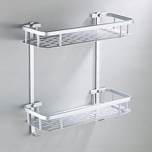 Badkamer Douche Bad Houder Aluminium Opslag Rack voor Shampoos Douche Gel Keuken Thuis Balkon Plank Opknoping Rek Haak 1/2Tiers