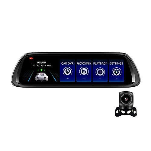 Car DVR,Greshare Car DVR Dash CAM with 10 Inch TouchCyclic RecordingDual Lens Rearview Mirror Camera80P HD CameraG-Sensor Starlight Night Vision WDR