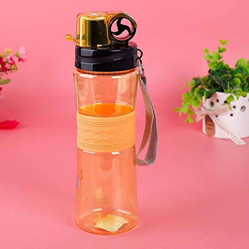XIXISA Botellas de Agua de plástico sin BPA de 490 ML, Botella de Bebida Deportiva para Bicicleta, portátil, para Adultos, Senderismo, Viajes, niños, Uso Escolar, Botella-D