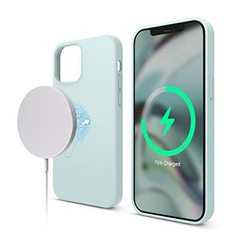 elago Cover Magnetico Silicone Compatibile con iPhone 12 e Compatibile con iPhone 12 Pro 6.1 Pollici - Magneti Incorporati, Compatibili con MagSafe Accessori