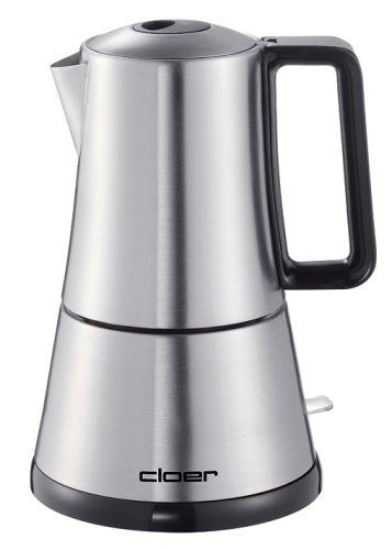 Cloer 5928 Espresso-Kocher / 365 W / für 3-6 Tassen Espresso / Edelstahlgehäuse